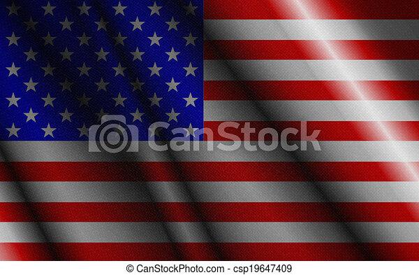 アメリカの旗 - csp19647409