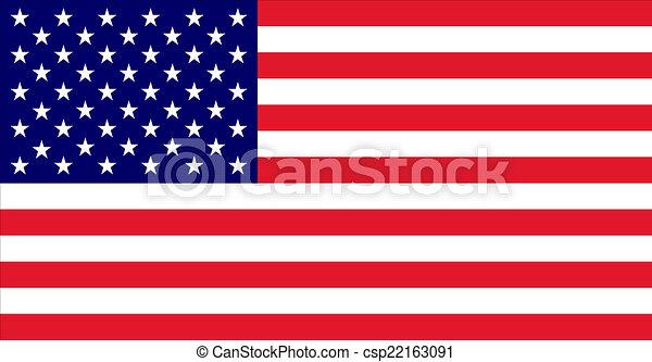 アメリカの旗 - csp22163091