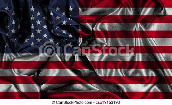 アメリカの旗, 背景 - csp19153198