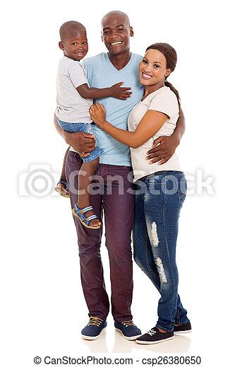 アメリカ人, 家族, アフリカ - csp26380650