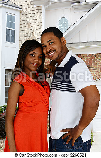 アメリカ人, 家族, アフリカ - csp13266521