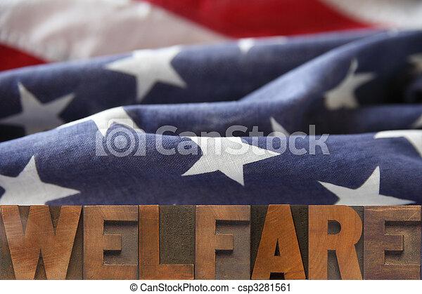 アメリカ人, 生活保護 - csp3281561