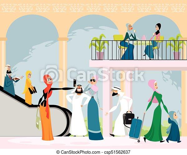アラビア人 男性 女性 アラビア人 男性 ベクトル イラスト 女性