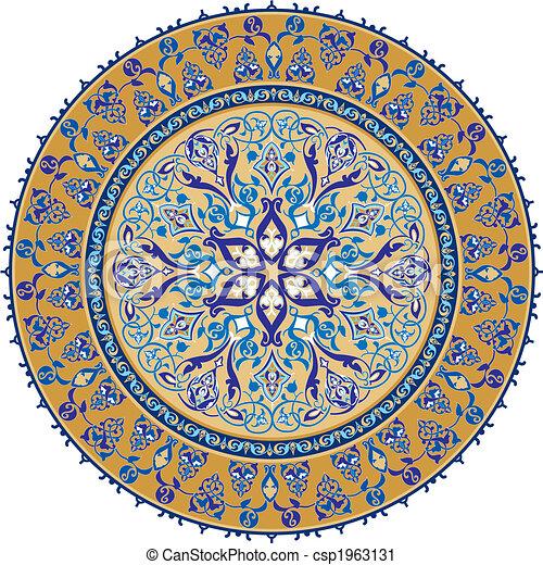アラビア, 装飾, 古典である - csp1963131