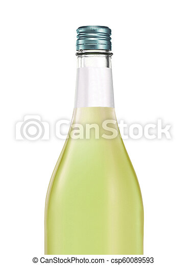 アルコール, びん, 隔離された - csp60089593