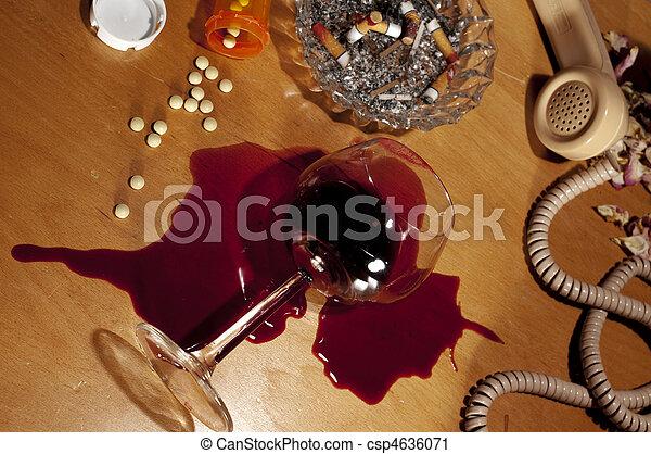 アルコール, 自殺, 憂うつ, 薬 - csp4636071
