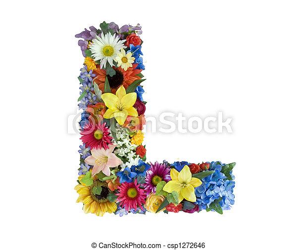 アルファベット, 花, -, l - csp1272646