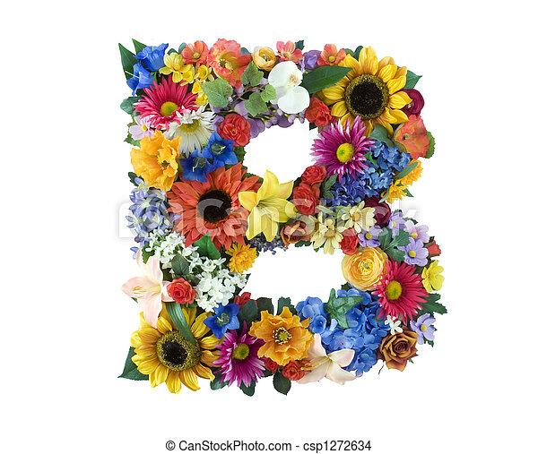 アルファベット, b, -, 花 - csp1272634