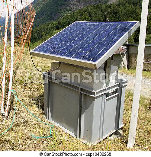 アルプス, スイス人, 太陽 パネル - csp10432268
