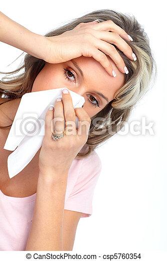 アレルギー, インフルエンザ - csp5760354