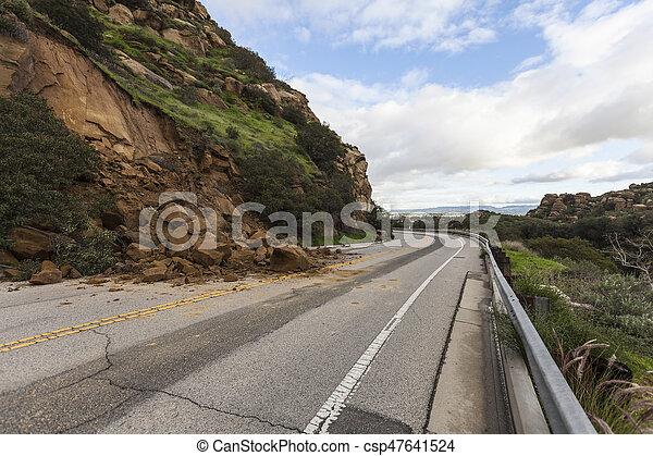 アンジェルという名前の人たち, los, 地すべり, カリフォルニア - csp47641524