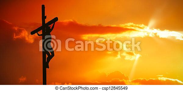 イエス・キリスト, 交差点, キリスト - csp12845549