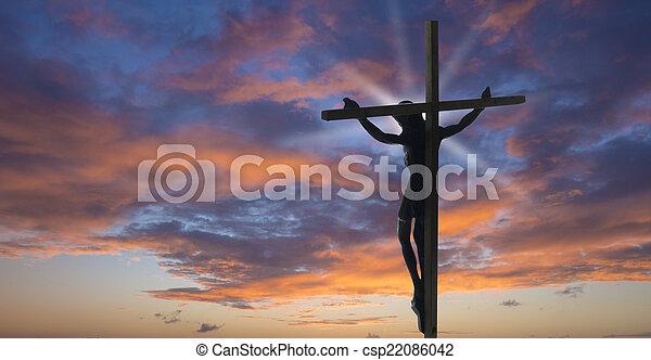 イエス・キリスト, 交差点 - csp22086042