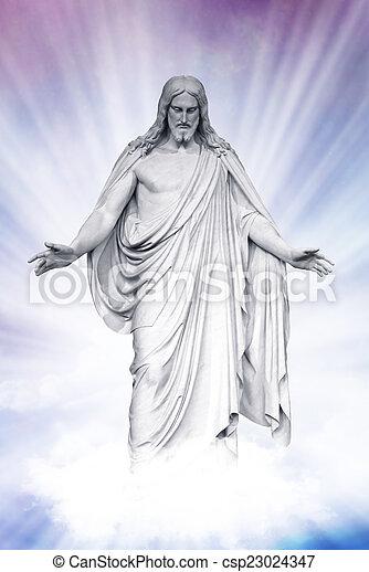 イエス・キリスト, 復活させられた, heavenly, 雲 - csp23024347
