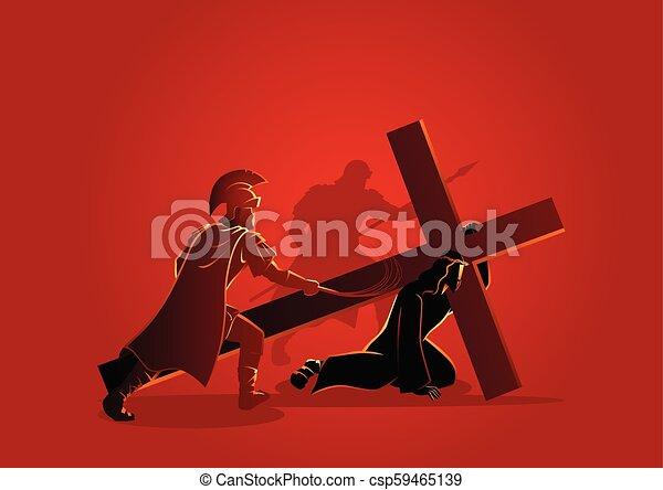 イエス・キリスト, 時間, 最初に, 落ちる - csp59465139