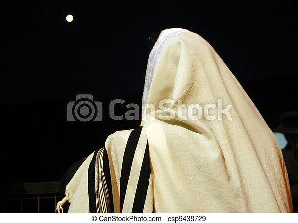 イスラエル, ユダヤ人, 遅れ, bomer, 休日, meiron - csp9438729