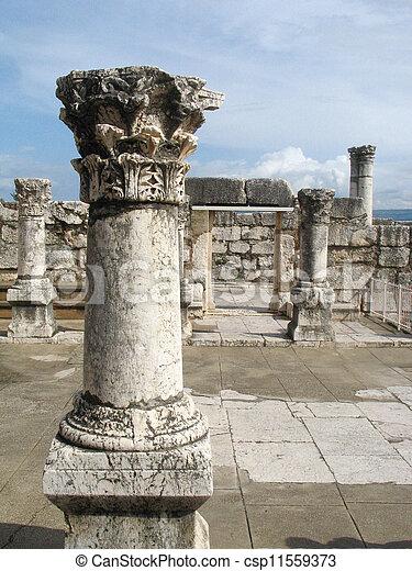 イスラエル, synagogue, capernaum - csp11559373