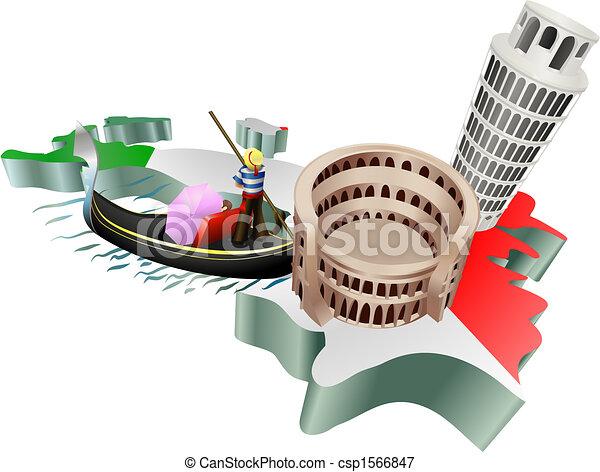 イタリア語, 観光事業 - csp1566847