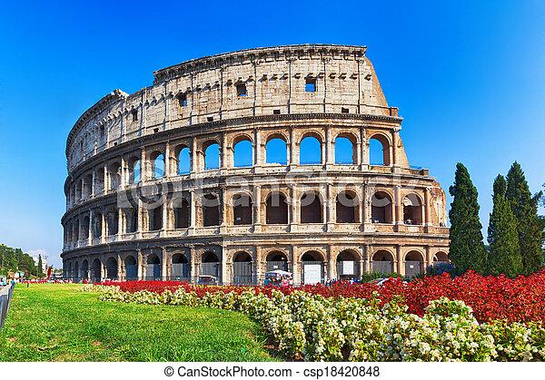 イタリア, 古代のローマ, colosseum - csp18420848