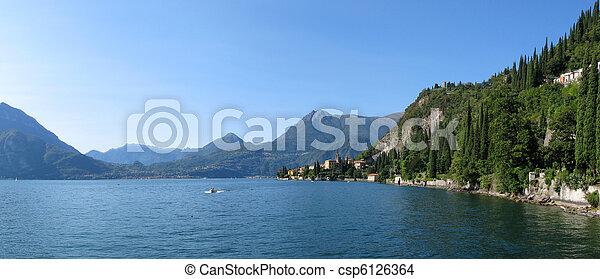 イタリア, 湖, como. - csp6126364