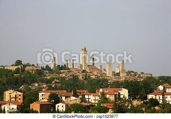 イタリア, gimignano, トスカーナ, san - csp1523677