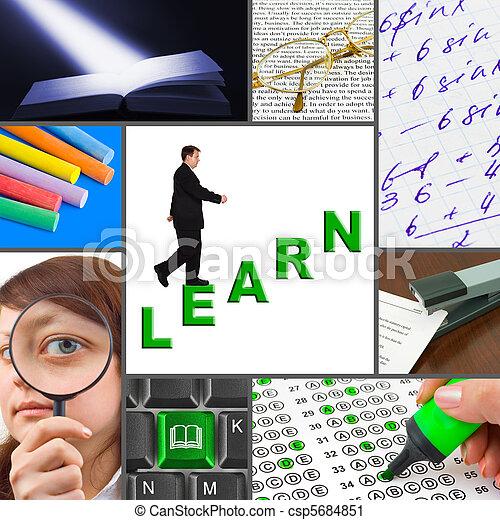 イメージ, コラージュ, 教育 - csp5684851