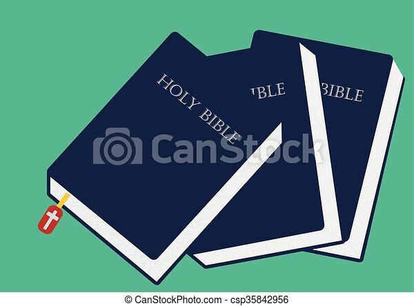 イメージ, ベクトル, 閉じられた, イラスト, 聖書 - csp35842956