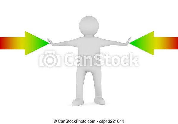 イメージ, 矢, 隔離された, バックグラウンド。, 白, 人, 3d - csp13221644
