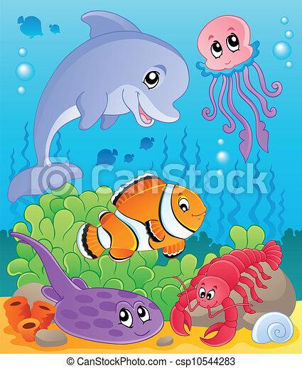 イメージ, 5, 主題, 海中の - csp10544283