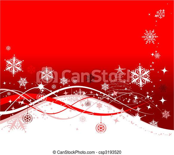 イラスト, クリスマス, 背景, ベクトル, デザイン, 休日, あなたの - csp3193520