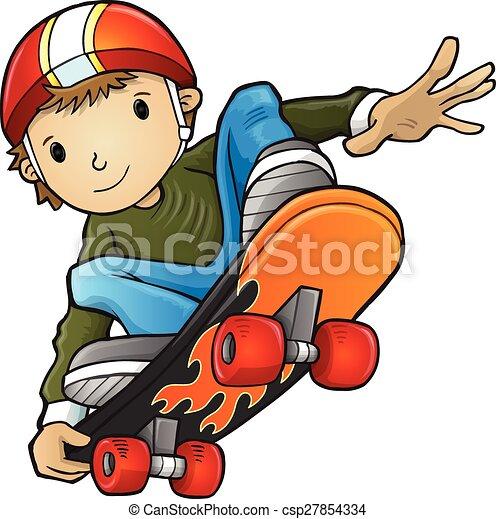 イラスト, ベクトル, skateboarder - csp27854334