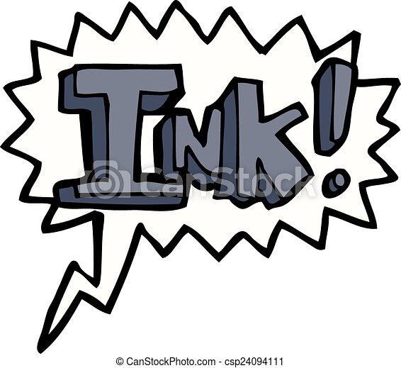 インク, スピーチ泡, 漫画 - csp24094111