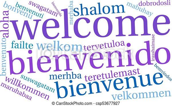インターナショナル, 歓迎, 単語, 雲 - csp53677927
