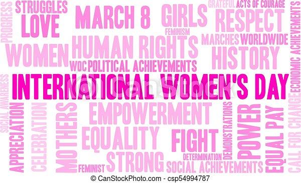 インターナショナル, womens, 日, 単語, 雲 - csp54994787