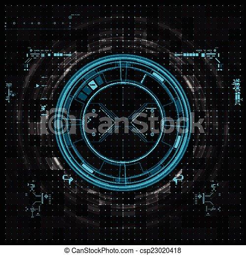 インターフェイス, グラフィック, ユーザー, 未来派 - csp23020418