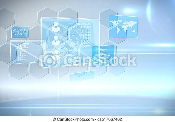 インターフェイス, 未来派, 技術 - csp17667462