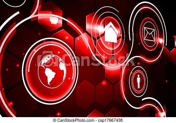 インターフェイス, 未来派, 技術 - csp17667438
