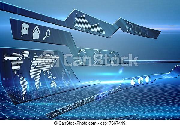 インターフェイス, 未来派, 技術 - csp17667449