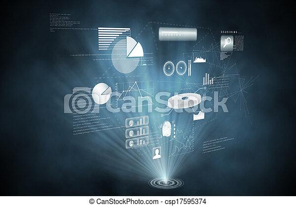 インターフェイス, 未来派, 技術 - csp17595374
