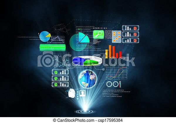 インターフェイス, 未来派, 技術 - csp17595384