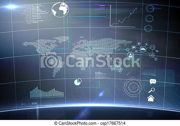インターフェイス, 未来派, 技術 - csp17667514