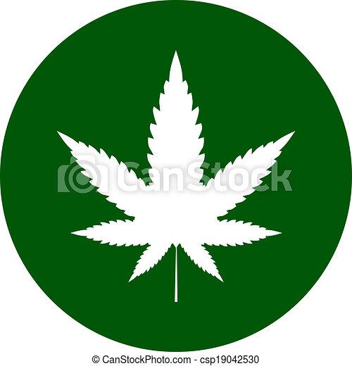 インド大麻, アイコン - csp19042530
