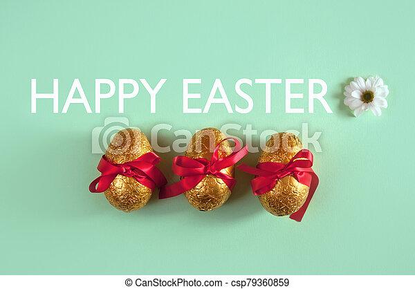 イースターエッグ, チョコレート - csp79360859