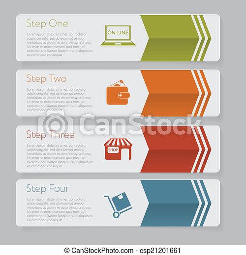 ウェブサイト, グラフィック, レイアウト, infographic., 数, デザイン, テンプレート, 旗, ∥あるいは∥ - csp21201661