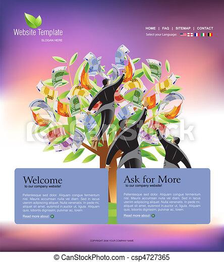ウェブサイト, テンプレート - csp4727365