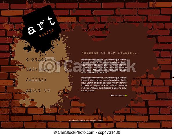ウェブサイト, テンプレート - csp4731430