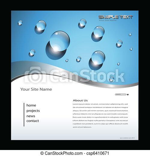 ウェブサイト, テンプレート - csp6410671