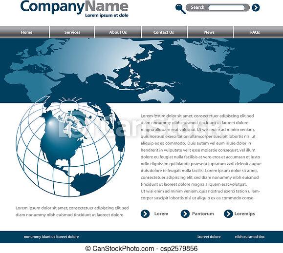 ウェブサイト, デザイン, テンプレート - csp2579856