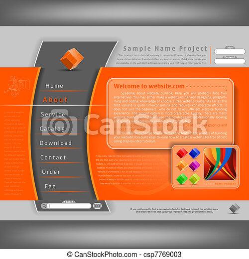 ウェブサイト, デザイン, テンプレート - csp7769003