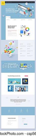 ウェブサイト, デザイン, ページ, テンプレート, 1(人・つ) - csp56358302